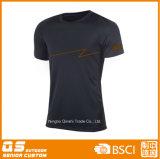 빠른 건조한 폴리에스테 t-셔츠를 달리는 남자의 스포츠