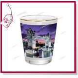 Golden Rimの1.5oz Sublimation Custom Printed Wine Glass
