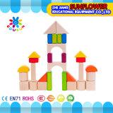 O Desktop de madeira das crianças brinca o enigma de madeira dos blocos de apartamentos desenvolventes dos brinquedos (XYH-JMM10008)