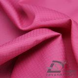 Agua y de la ropa de deportes tela tejida chaqueta al aire libre Viento-Resistente 100% del poliester del filamento del telar jacquar de la tela escocesa abajo (53099)