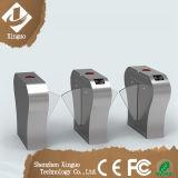 304 Steel Flap Wing Barriers Turnstile com leitor de RFID