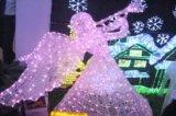 Décoration extérieure de Noël de lumière de château du parc d'attractions DEL