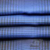 Agua y de la manera de la chaqueta tela catiónica tejida chaqueta Viento-Resistente 100% del filamento del hilado del poliester del telar jacquar de la tela escocesa abajo (X022)