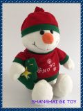 De Sneeuwman van de Decoratie van het Huis van het Stuk speelgoed van de Pluche van Kerstmis