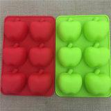 Moulage de gâteau de silicones de forme d'Apple de catégorie comestible