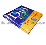Книга книга в твердой обложке с обслуживанием печатание губки прокладки (jhy-323)