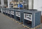 セリウム、TUVのEn14511証明書R410A 12kw、19kw、35kw、70kwの大きいホーム中央ヒーターのためのヒートポンプに水をまく105kwアウトレット最大65deg cの空気