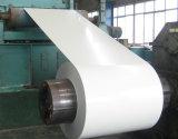Tôles d'acier, bobines galvanisées enduites d'une première couche de peinture blanches d'acier