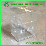Caixa desobstruída do PVC do animal de estimação, caixa impressa do empacotamento plástico, caixa de dobramento plástica desobstruída