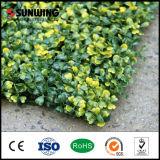 Wand-Dekoration-geschützter gelber künstlicher Blatt-Pflanzenuvzaun