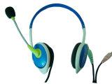 De gevouwen Oortelefoon van de Hoofdtelefoon van PC van het Halsboord
