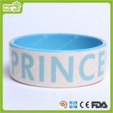 Tazón de fuente de cerámica del animal doméstico de la huella del perro del diseño de la manera