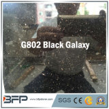 G802 Black Galaxy Shining Black Half Slab Granite