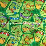 Подгонянная ткань шаржа напечатанная логосом для рисбермы/рубашки кухни