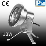 Acero inoxidable 6W Luz subacuática del LED con el trípode (JP95561)