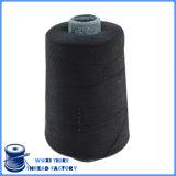 Hilo de coser hecho girar negro 100% del poliester 20s/2 del artículo