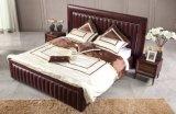 Het donkerrode Bed van de Koning van het Leer voor het Gebruik van de Slaapkamer (B007)
