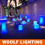 Silla brillante ligera del cubo de los muebles LED del LED