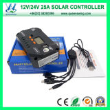 LCD表示(QWP-VS2524U)との25A 12/24V USB Solar Charge Regulator