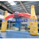 De reclame van LEIDENE de Opblaasbare Boog/de Decoratie die van de Gloed LEIDENE Lichte Opblaasbare Boog adverteren