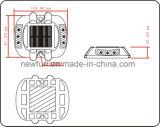 Reflektierender AluminiumsolarKatzenauge-Straßen-Stift der straßen-Markierungs-LED blinkender