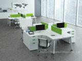 Tabella lineare moderna della stazione di lavoro di Seater di figura 4 delle forniture di ufficio con il divisore dello schermo (HF-YZL005C)
