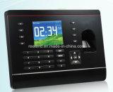 Sistema do comparecimento do tempo de Biometric/RFID, máquina da impressão digital do TCP/IP