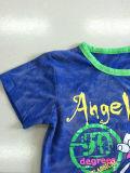 3D綿の品質Sqt-613と着ている子供の洗浄の赤ん坊の子供のTシャツ