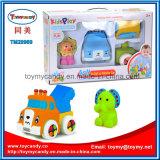 Reeks van het Stuk speelgoed van de Auto van de Bouwsteen van het Beeldverhaal DIY de Dierlijke Zachte Plastic
