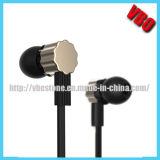 フラットケーブルの耳の金属のイヤホーン(10A73)