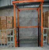 Multi-Parar a tabela de elevador hidráulica vertical Chain da carga do armazém do elevador de frete para o controle Multi-Point