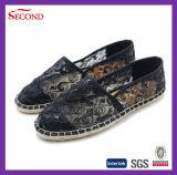 Trois chaussures de Madame Hemp Ramie Espadrille Soles de lacet de couleurs