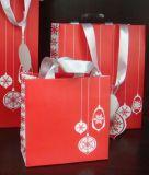 カスタム熱い販売の高品質の白はクラフトの紙袋を卸しでリサイクルする