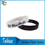 Benutzerdefinierte Farbe gefüllte Silikon-Armband Gummiband (TH-08802)