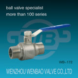 1PC Cast Stainless Steel (CF8, CF8M) Threaded Ball Valve M/F con Manual Handle