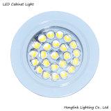 台所世帯のキャビネットのための白い円形2.4W SMD LEDの軽いキャビネット