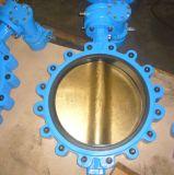 Estirón de asiento del hierro EPDM y válvula de mariposa dúctiles de la oblea (D371X-16Q)