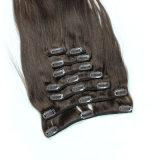 Оптовый индийский зажим девственницы волос в Weave человеческих волос высокого качества выдвижений волос (FDX-SM-2016-6)