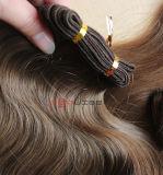 Tecelagem cheia do cabelo ondulado do corpo do cabelo da cutícula da cor natural humana
