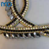 Iron Handmade su Sandal Trims con Clear Crystal & Diamond Ornaments