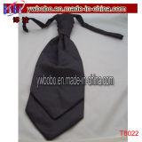 Double foulard de relation étroite de polyester de mariage de ruche de Bosys Scrunchie de Mens de baisse (T8022)