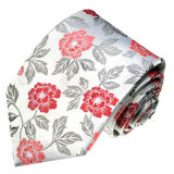Cravates en soie tissées neuves de configuration de fleur de Siliver Turquie de mode