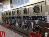 Arruela a fichas e secador da lavanderia profissional