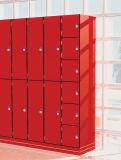 Preiswertes HPL Schließfach mit Typenschild für Schule-Schlafsaal