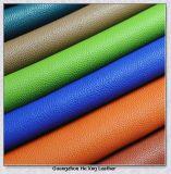 Cuero sintetizado del PVC para el bolso, muebles, carpeta
