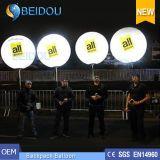 Рекламировать воздушные шары двигая гуляя воздушный шар Backpack украшения освещения СИД раздувной