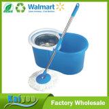 Pequeña fregona doble del metal del compartimiento plástico de la limpieza con el escurridor