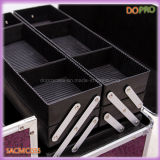 Lila Krokodil PVC-Oberfläche Aluminium Beauty Case (SACMC055)