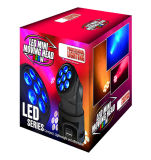 RGBWA + UV 6in1 Luz de cabeça móvel LED pequena para iluminação de palco