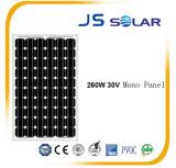 panneau solaire 260W cristallin mono avec la bonne qualité